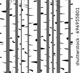 birch tree.seamless pattern... | Shutterstock .eps vector #696955801