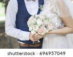 wedding | Shutterstock . vector #696957049