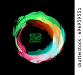 neon paint abstract round.... | Shutterstock .eps vector #696959551