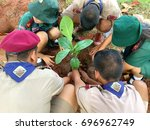 Group Of Boy Scout In Thailand...