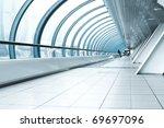 contemporary hallway of airport   Shutterstock . vector #69697096