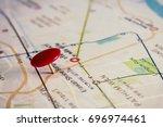 pin in map | Shutterstock . vector #696974461