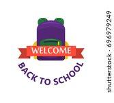 back to school calligraphic... | Shutterstock .eps vector #696979249