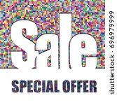 pixel background  special offer ... | Shutterstock .eps vector #696979999