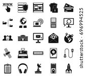 hacker icons set. simple set of ... | Shutterstock .eps vector #696994525