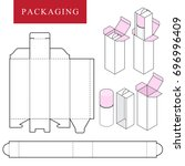 packaging for cosmetic or... | Shutterstock .eps vector #696996409