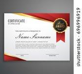 creative certificate of... | Shutterstock .eps vector #696996919