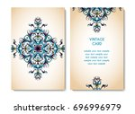 vintage card or invitation with ... | Shutterstock .eps vector #696996979