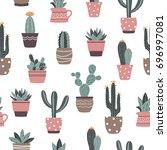 seamless vector hand drawn... | Shutterstock .eps vector #696997081
