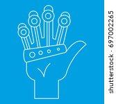 vr manipulator icon blue... | Shutterstock .eps vector #697002265