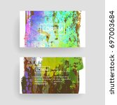 set of vector business card... | Shutterstock .eps vector #697003684