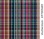 checks fabric. tartan. seamless ... | Shutterstock .eps vector #697005685