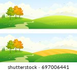 vector illustration of autumn... | Shutterstock .eps vector #697006441