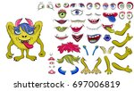 creating a monster from a set... | Shutterstock .eps vector #697006819