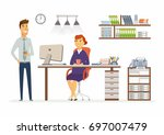 office consultation   vector... | Shutterstock .eps vector #697007479
