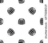 fruit jelly pattern repeat...   Shutterstock .eps vector #697008019
