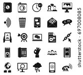 Automatic Redial Icons Set....