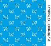 butterfly peacock eye pattern...   Shutterstock .eps vector #697008199