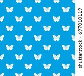 black butterfly pattern repeat...   Shutterstock .eps vector #697010119