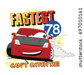 vector cartoon car illustration.... | Shutterstock .eps vector #697010161