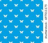 admiral butterfly pattern...   Shutterstock .eps vector #697011175