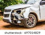 car carcass af accident  car... | Shutterstock . vector #697014829