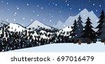 vector illustration of hill...   Shutterstock .eps vector #697016479
