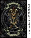pharaoh skull   Shutterstock .eps vector #697020241