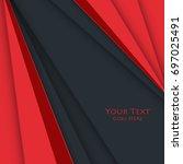 bright corporate design....   Shutterstock . vector #697025491