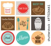 kitchen utensil  cooking food... | Shutterstock .eps vector #697026661