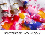 creative artistic background.... | Shutterstock . vector #697032229