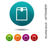 delivery box icons. shipping... | Shutterstock .eps vector #697044859