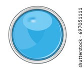 blue circular button  isolated... | Shutterstock .eps vector #697051111