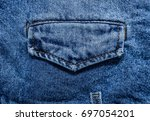 blue jacket jean fabric texture ... | Shutterstock . vector #697054201