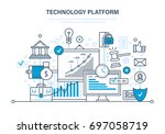 technology platform. cloud... | Shutterstock .eps vector #697058719