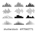 sound waves icons set. symbols... | Shutterstock .eps vector #697060771