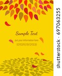 template design poster of tree... | Shutterstock .eps vector #697063255