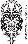 stingray shoulder design for... | Shutterstock .eps vector #697063417