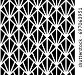 black triangles on white...   Shutterstock .eps vector #697063951
