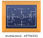 soccer tactics drawing on... | Shutterstock . vector #69706531