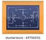 soccer tactics drawing on... | Shutterstock . vector #69706531