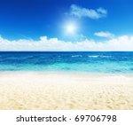 ocean and perfect sky | Shutterstock . vector #69706798