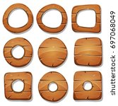 wood rings  circles and shapes...