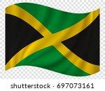 3d waving flag of jamaica....
