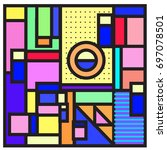 abstract colorful geometric ... | Shutterstock .eps vector #697078501
