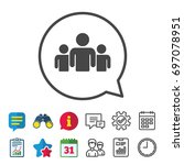 group of people sign icon.... | Shutterstock .eps vector #697078951