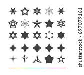 design elements   stars icon | Shutterstock .eps vector #697079161