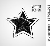 stamps collection. grunge stars ... | Shutterstock .eps vector #697081015