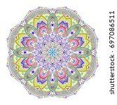 oriental beautiful female...   Shutterstock .eps vector #697086511