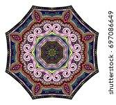 oriental stylized ornament...   Shutterstock .eps vector #697086649